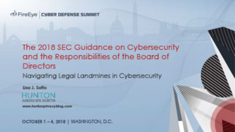 The 2018 SEC Guidance on Cybersecurity and the Responsibilities of the Board of Directors