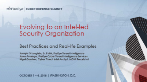 Evolving to an Intel-led Security Organization