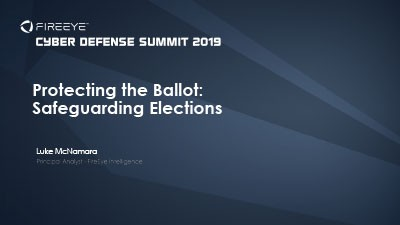 Protecting the Ballot and Safeguarding Elections
