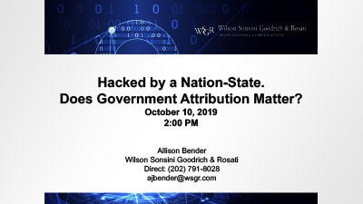 Hacked by a Nation-State. Does Government Attribution Matter?