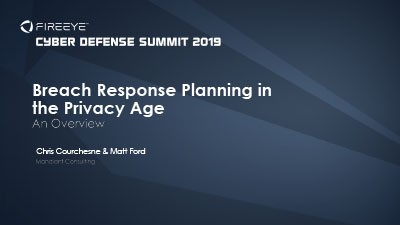 Breach Response Planning in the Privacy Age