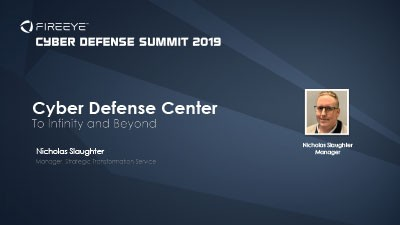 Cyber Defense Center: To Infinity and Beyond