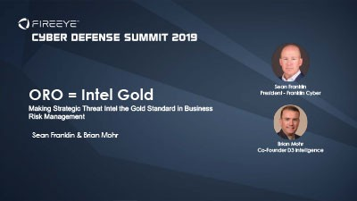 Making Strategic Threat Intel the Gold Standard
