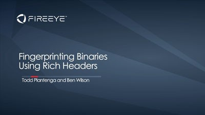 Fingerprinting Binaries Using Rich Headers: Tales from Our Analysis
