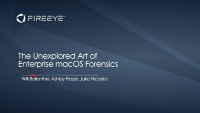 The Unexplored Art of Enterprise macOS Forensics