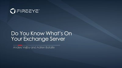Do You Know What's on Your Exchange Server?
