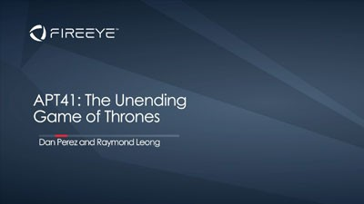 APT41: The Unending Game of Thrones